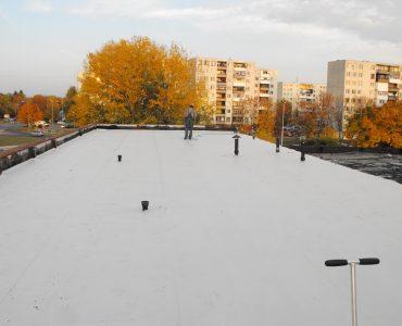 Izolácia strechy – Autoservis, Michalovce