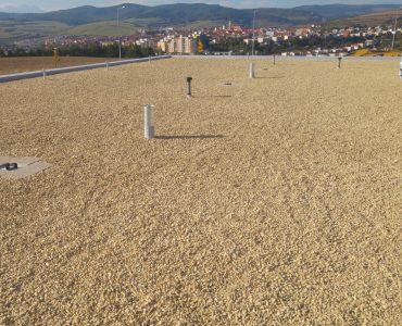 Izolácia strechy – Čerpacia stanica SHELL, odpočívadlo Levoča