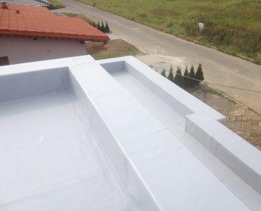 Izolácia strechy – RD Michalovce, mPVC